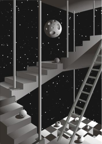 Moonlight staircase construction
