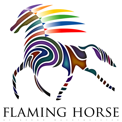 Flaming Horse-Shirtmotiv (2008)